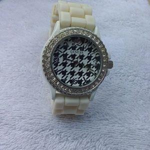 Geneva white watch